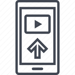 cell, media, phone, video, youtube, youtuber icon