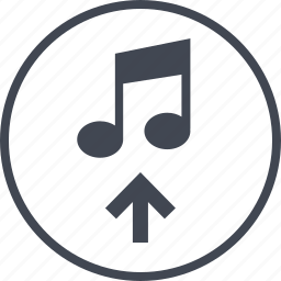 app, content, music, note, play, video icon