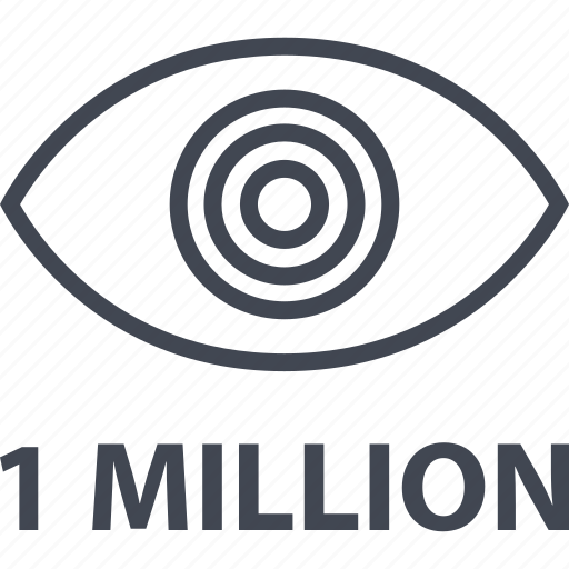 eye, look, million, one, search, views icon