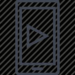 consume, media, play, vid, video, youtube icon