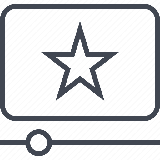 back, bookmark, play, star, vid, video icon