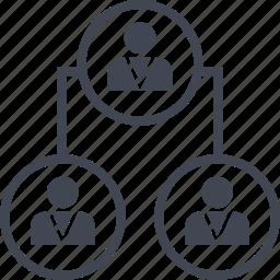 connect, data, seo, three icon