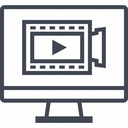 content, mac, media, online, pc, video icon