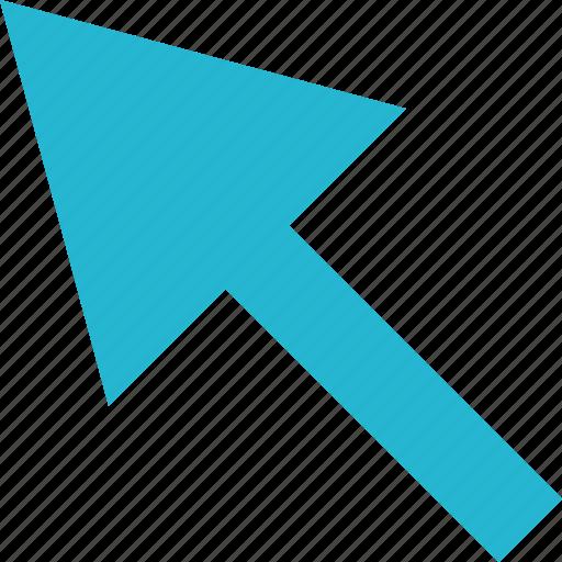 arrow, click, experience, nav, navigation, track, user icon