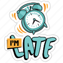 network, clock, alarm, schedule, late, time, social