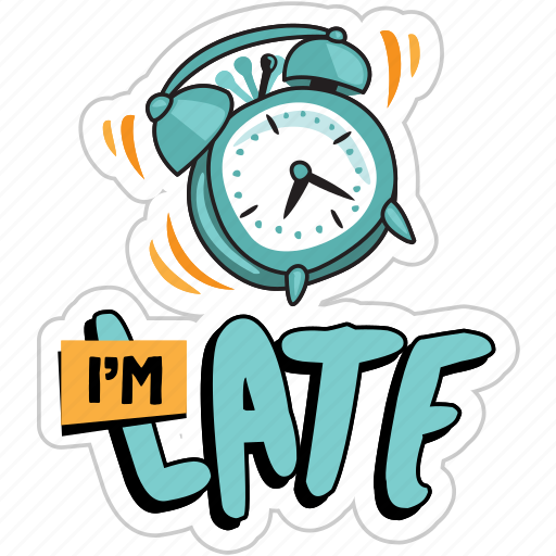 Alarm, clock, late, network, schedule, social, time icon