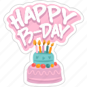 birthday, cake, celebration, event, holiday, party, social network icon