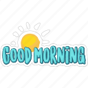 good, morning, nature, network, social, sun, weather icon