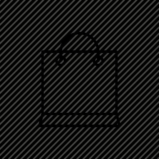 bag, basket, decorative bag, papper bag, pouch, shop, shopping icon