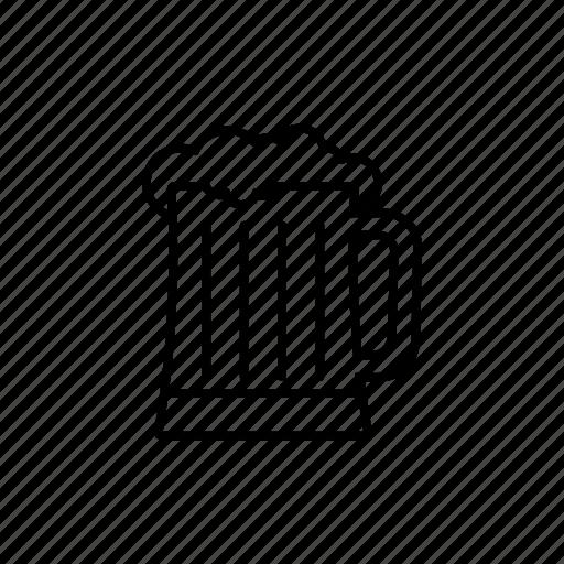 beer, draft beer, glass of beer, krigla icon