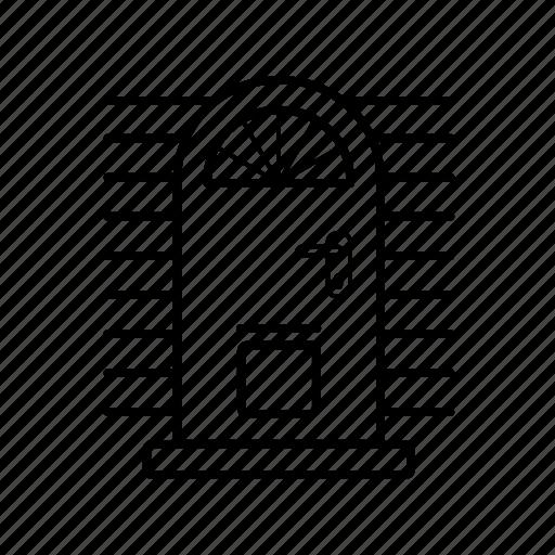 door, doors, entrance doors, front door, gate icon