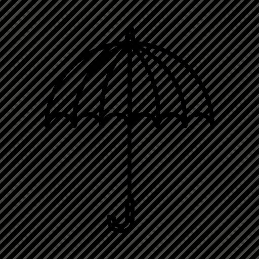 rains, rainy day, umbrella, weather icon