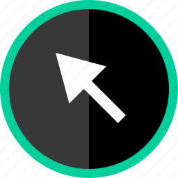 arrow, click, mouse, track icon