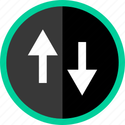 activity, arrow, down, stream, up icon