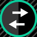 activity, arrow, back, left, streaming