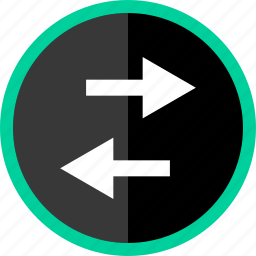 activity, arrow, back, left, streaming icon