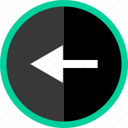 arrow, back, left, point icon
