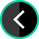 back, left, point, pointer icon