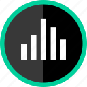 bars, data, graph, music, report icon