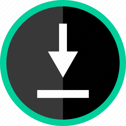 arrow, down, download, point, pointer icon