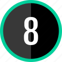 chart, count, eight, number icon