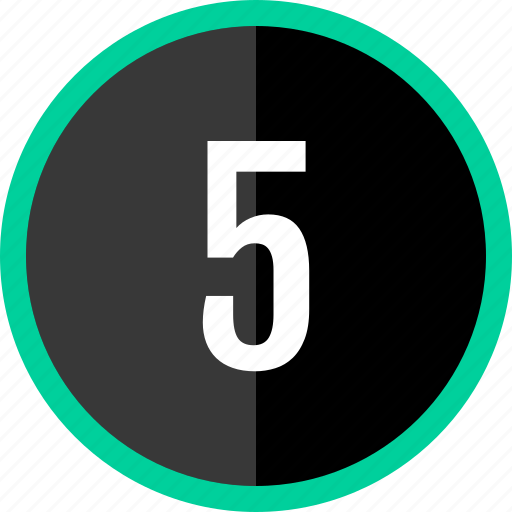 chart, count, five, number icon