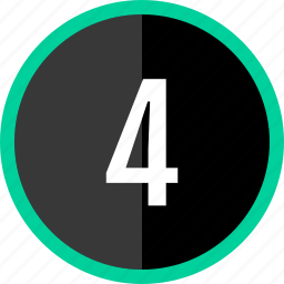 chart, count, four, number icon