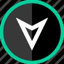 arrow, down, gps, point icon