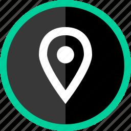 gps, locate, location, navigate, pin icon