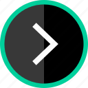 arrow, go, next, point, right icon