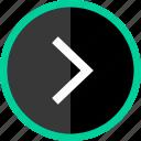 arrow, go, next, point, right