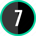 chart, count, number, seven icon