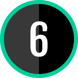 chart, count, number, six icon