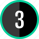 chart, count, number, three icon