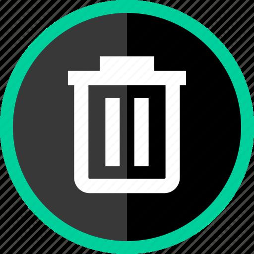 bin, can, delete, files, trash icon