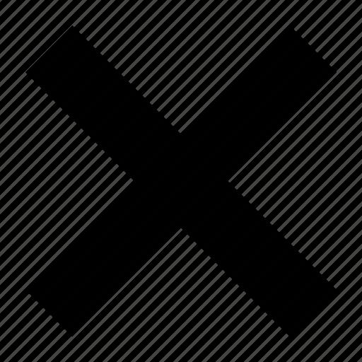 cancel, close, delete, exit, hide, remove, trash icon