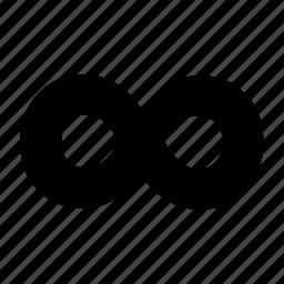 infinite, infinity, loop, repeat, shape icon