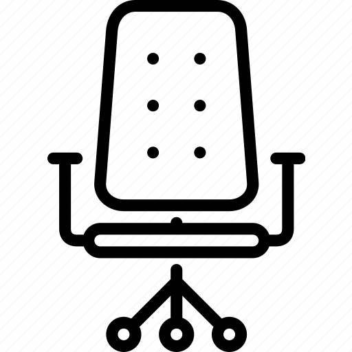 chair, furniture, office, office chair, seat, work icon