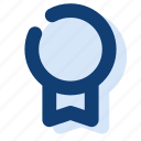 badge, first, prize, winner, winning icon