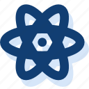 atom, flower, newton, nucleus, science icon