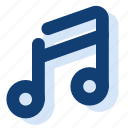 key, music, musical note, note, sheet music icon