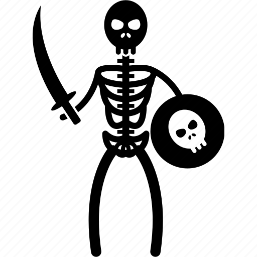bones, evil, fighting, pirate, skeleton, sword, undead icon