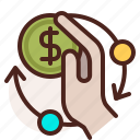 bank, check, currency, finance, fiscal, money, payment icon