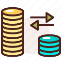 bank, currency, finance, fiscal, money, parity, payment icon
