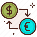 back, bank, exhange, finance, fiscal, money, payment icon