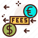 bank, fees, finance, fiscal, money, payment icon