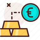 bank, euro, finance, fiscal, gold, money, payment icon