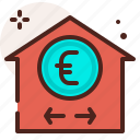 bank, evaluation, finance, fiscal, house, money, payment icon