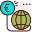 bank, coin, finance, fiscal, international, money, payment icon