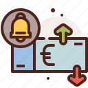 bank, finance, fiscal, money, notification, payment icon
